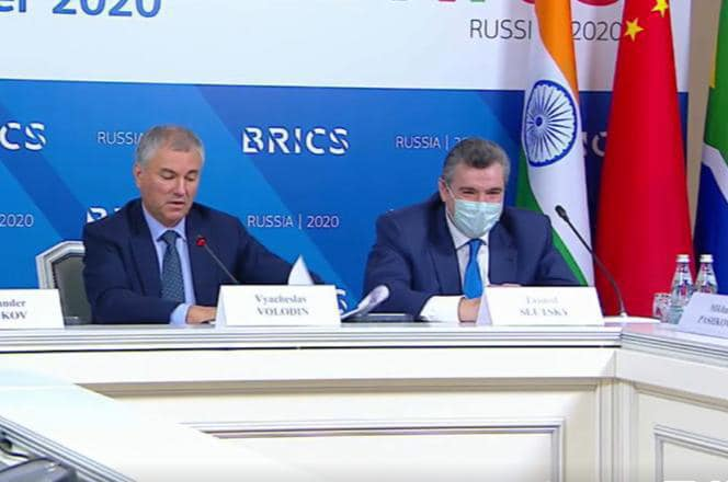 "Leonid Slutsky: ""The BRICS Parliamentary Forum was held in the format of videoconferencing, but this did not become less effective and significant"""