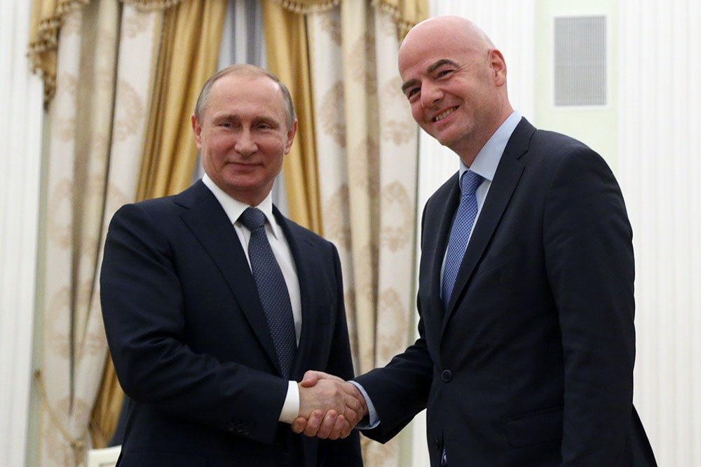 Vladimir Putin received FIFA President Gianni Infantino at the Kremlin.