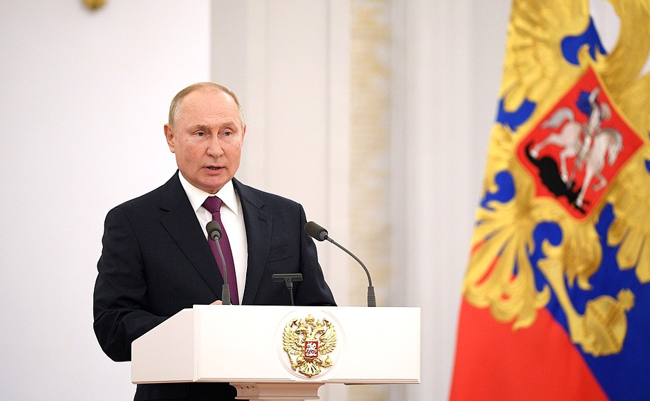 Vladimir Putin met with deputies of the Federal Assembly's State Duma of the eighth convocation